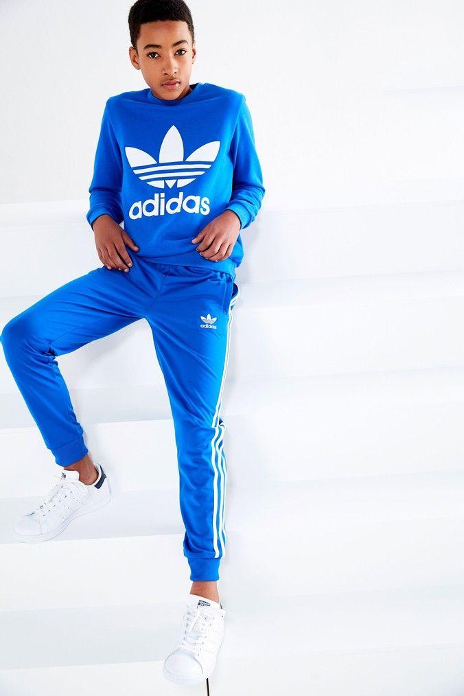 8fb59f7fb Boys adidas Originals 3 Stripe Pant - Blue in 2019 | Products ...