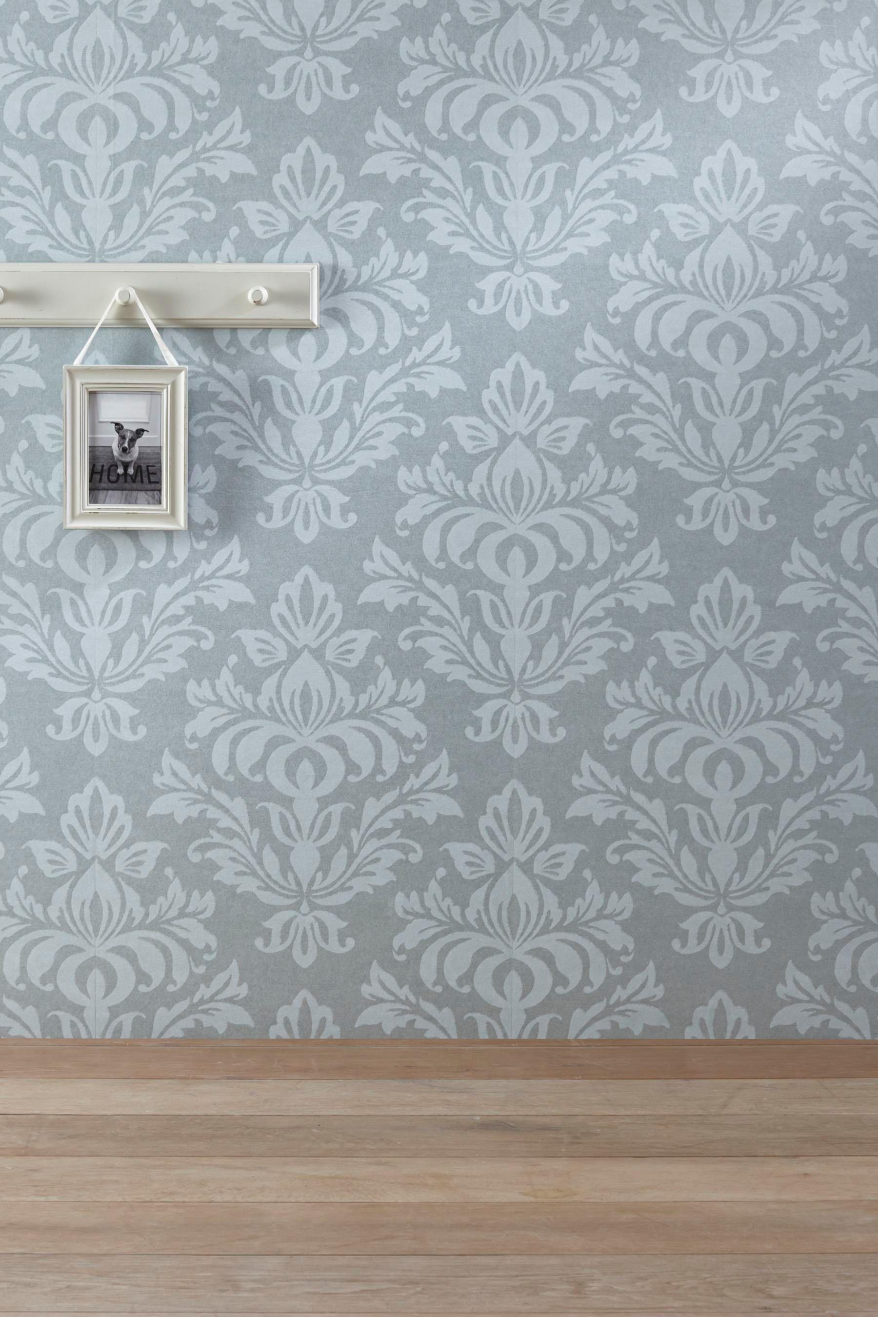 Buy Teal Damask Wallpaper from the Next UK online shop   Master bedroom   Pinterest   Damask ...
