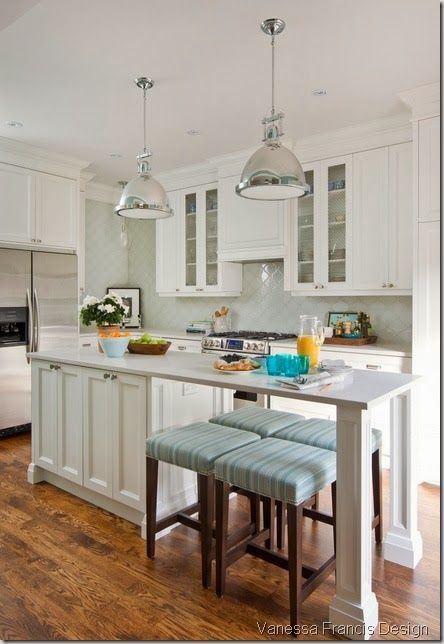 Narrow Kitchen Island Love This