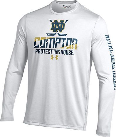 Under Armour University Of Notre Dame Hockey Long Sleeve Performance T Shirt University Of Notre Dame Long Sleeve Tshirt Men T Shirt Mens Tops