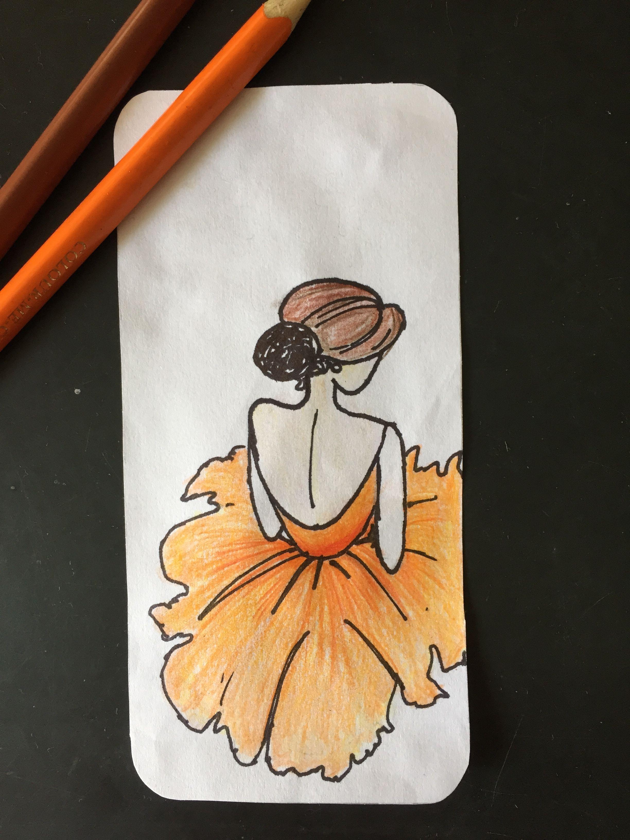 Girl Colour Pencil Color Pencil Art Colorful Drawings Art Drawings Simple