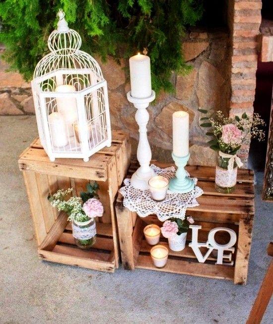 75 ideas de decoración de cajas de frutas para una boda rústica – ideas vivas y decoración