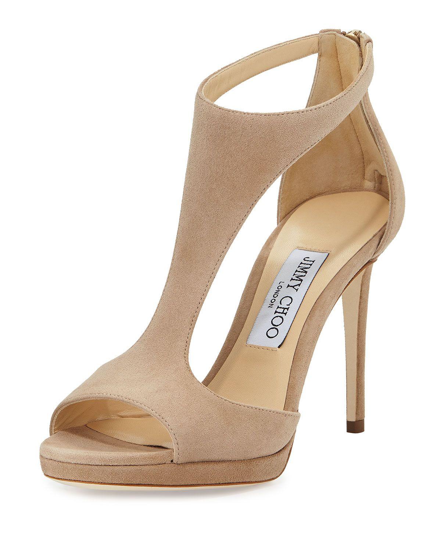 lana suede t strap 100mm sandal nude women s size 5b 35eu rh pinterest com