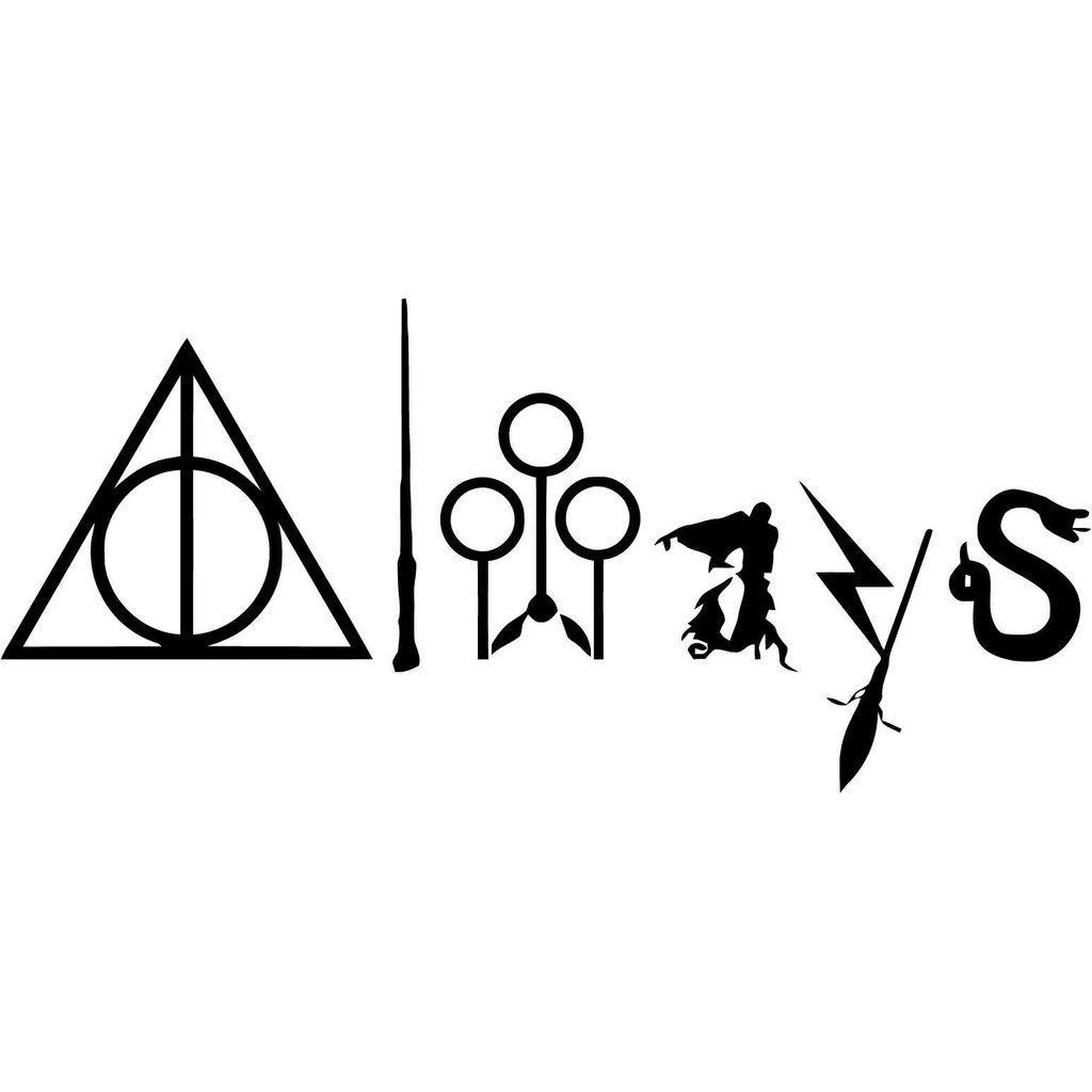 Harry Potter Always With Symbols Vinyl Car Window And Laptop Decal Sticker Harrypottert Harry Potter Dovmeleri Harry Potter Sanati Harry Potter Alintilari [ 1024 x 1024 Pixel ]