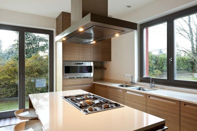 Cuisine en L moderne avec îlot en 108 photos magnifiques Kitchens - plan de cuisine moderne avec ilot central