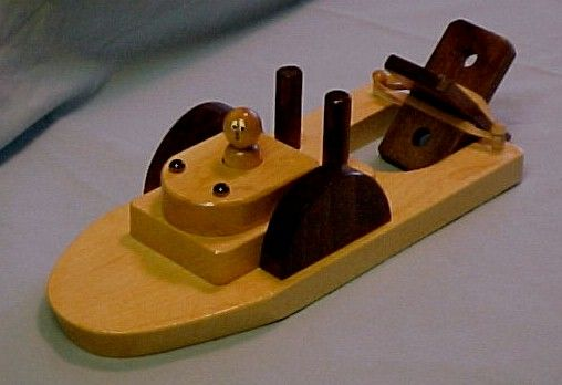 Wooden Toy Paddle Boat Homemade Gift Ideas Wooden Toys