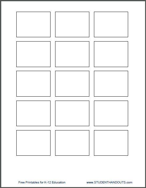1 5 x 2 printing template for post it notes for the classroom