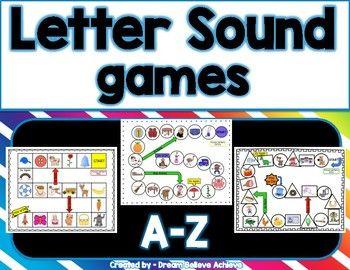 Letter Sound Games A Z Letter Sound Games Board Games Letter Games