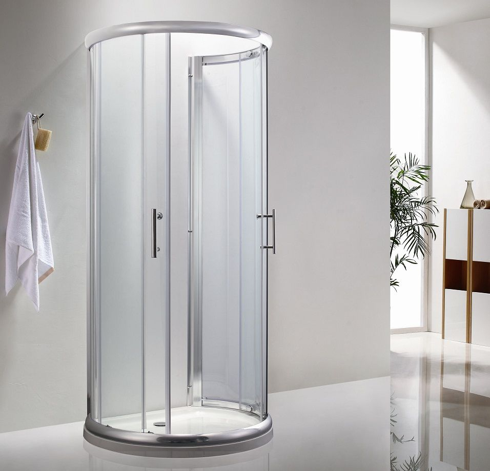 Icon D Shaped Shower Enclosure 900mm x 770mm One Wall Shower ...