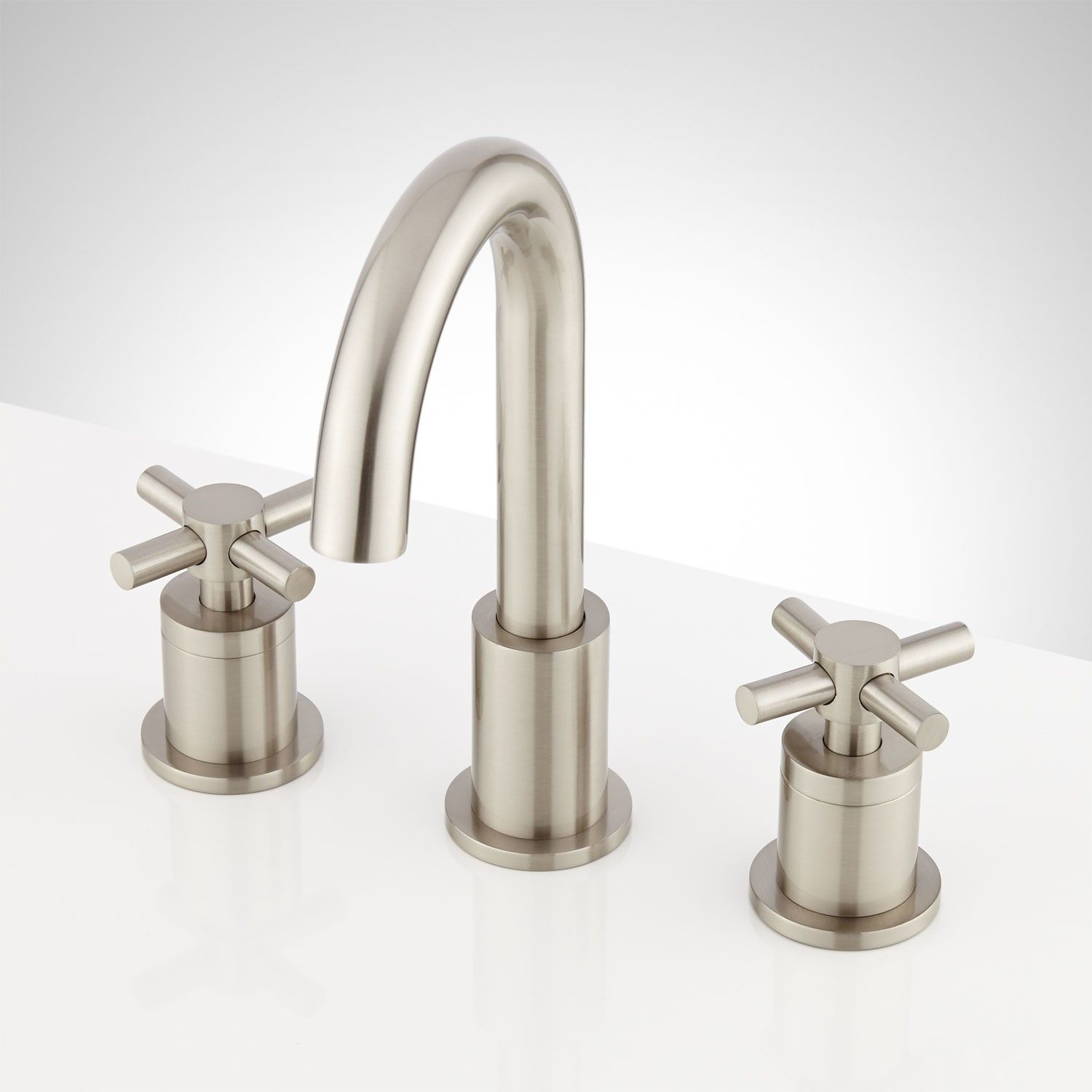 Keating Widespread Bathroom Faucet With Cross Handles Widespread