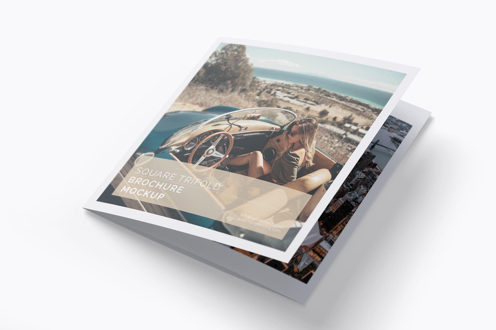 Download Brochure Mockup Illustrator Yellowimages