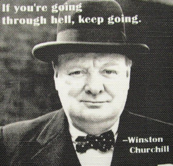WINSTON CHURCHILL QUOTE  Printed Patch  Sew on  Vest Bag   Etsy