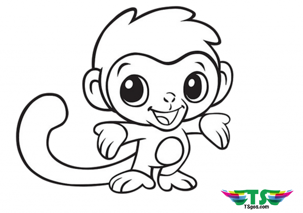 Free Download To Print Cute Baby Monkey Coloring Page Monkey Coloring Pages Animal Coloring Pages Easy Coloring Pages