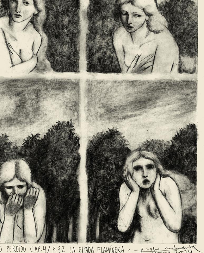 Detalle de El Paraíso perdido, de John Milton.