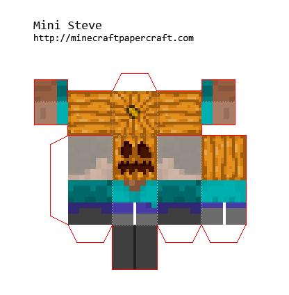 Minecraft papercraft mini steve