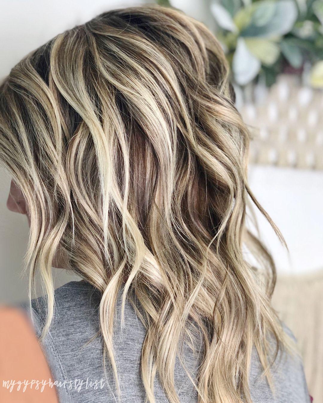 Dimensional blonde hair inspiration ashy blonde medium length