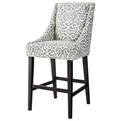 Griffin Cutback Bar Stool Gray Citron I Wish But The