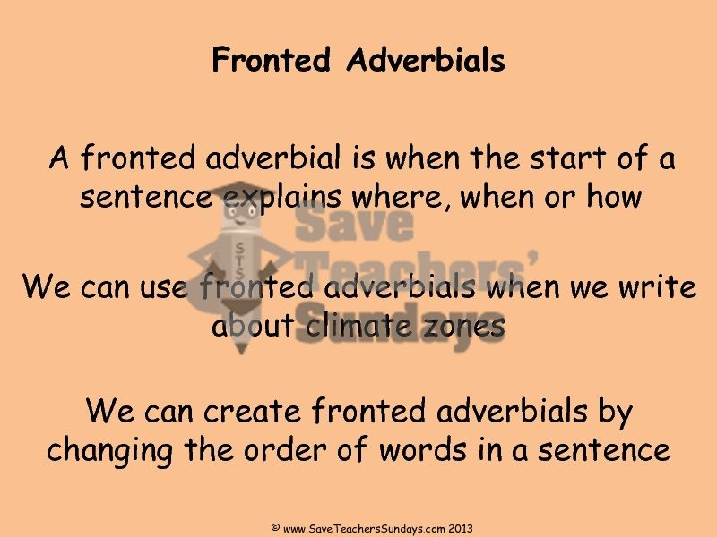 examples of climatic sentences