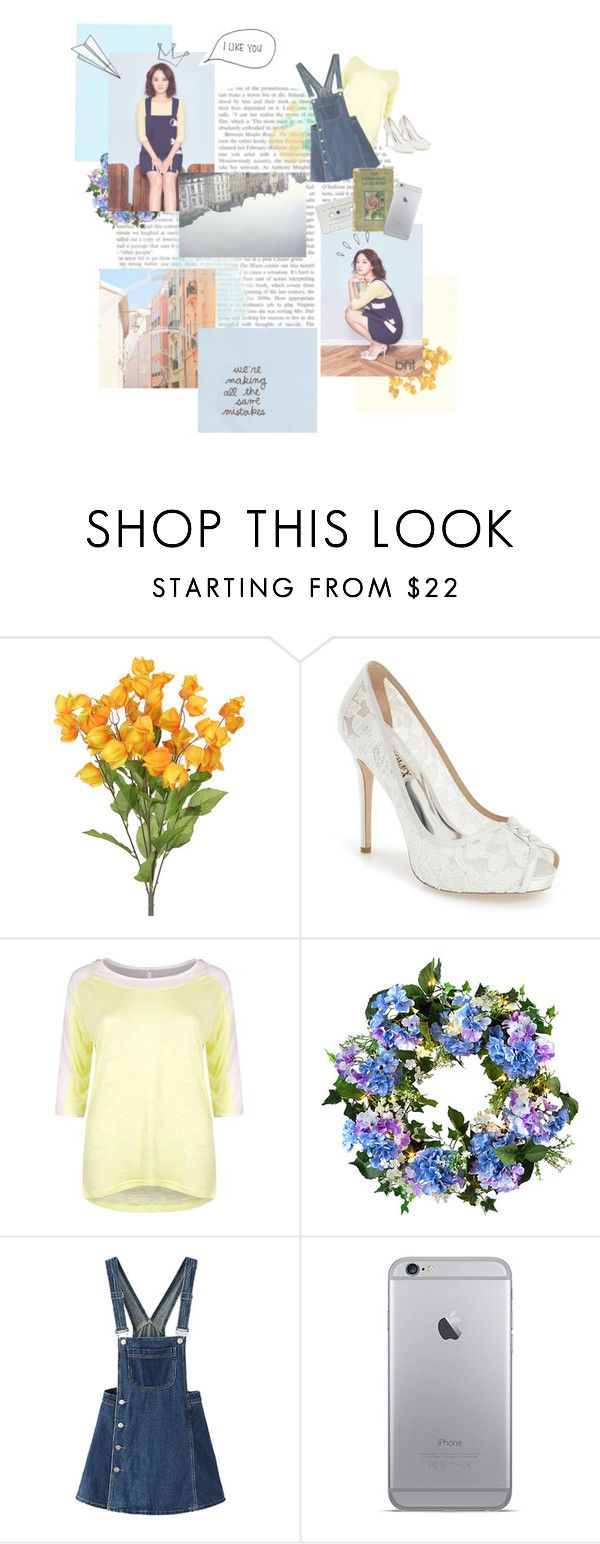 """Kim Jiwon ♥"" by viwang ❤ liked on Polyvore featuring Badgley Mischka, Boohoo, Improvements, WithChic, Plane and Old Navy"