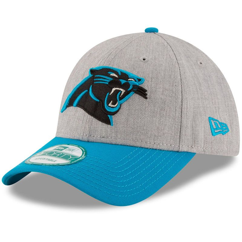 9cdbeca999ef80 Carolina Panthers New Era The League 9FORTY Adjustable Hat - Heathered Gray/ Blue