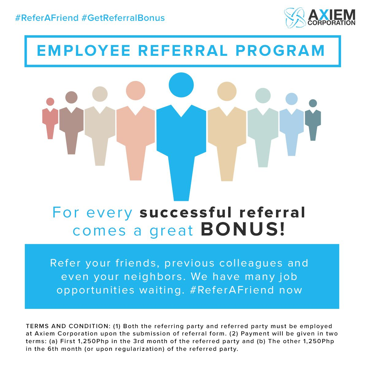 Employee Referral Bonus  Axiem Perks
