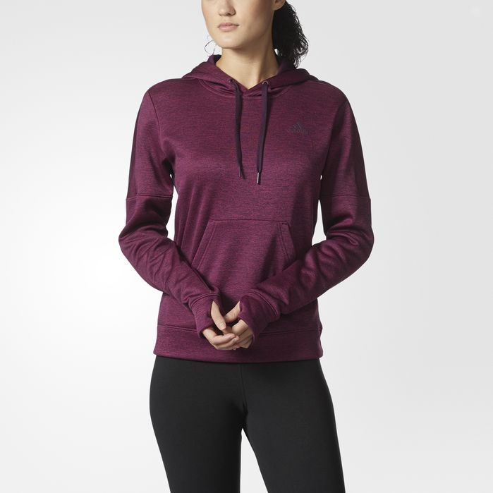 Adidas Women/'s Team Issue Climawarm Fleece Pullover Hoodie Maroon