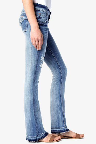 HUDSON, Signature Ballet Bootcut (32 in. Inseam), daytripper, Women / Bootcut, WSL170DHK-DAYT--love the hem.