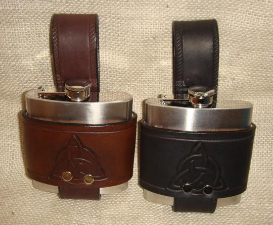 Black Men Leather Belt With Stainless Steel Flask New Cowboys Men Fashion Belt