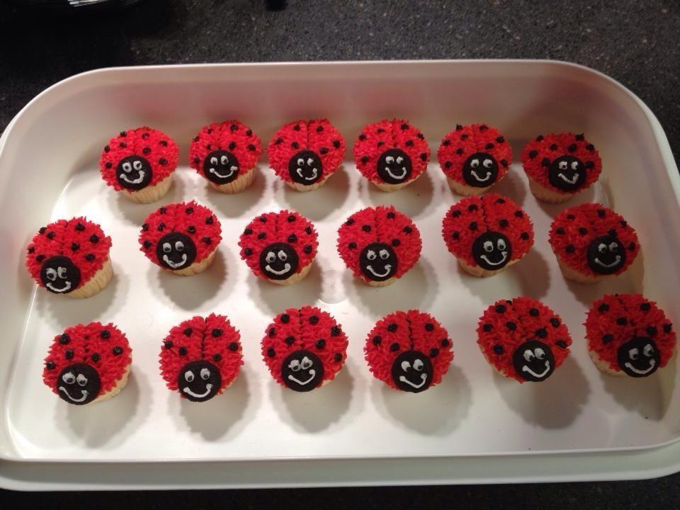 Ladybug Mini Cupcakes Lady Bug Camping Ideas Pinterest