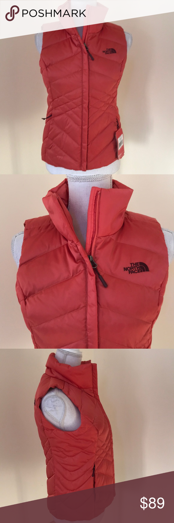 9bd80b5a9 NWT! The North Face XS coral Aconcagua vest New! The North Face size ...