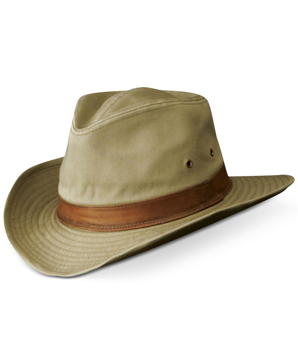 Dorfman Pacific Garment Washed Twill Shapable Outback Hat Reviews Hats Gloves Scarves Men Macy S Outback Hat Leather Hats Mens Accessories
