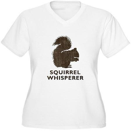a47c650998 CafePress Women s Plus-Size Squirrel Whisperer Graphic T-shirt ...