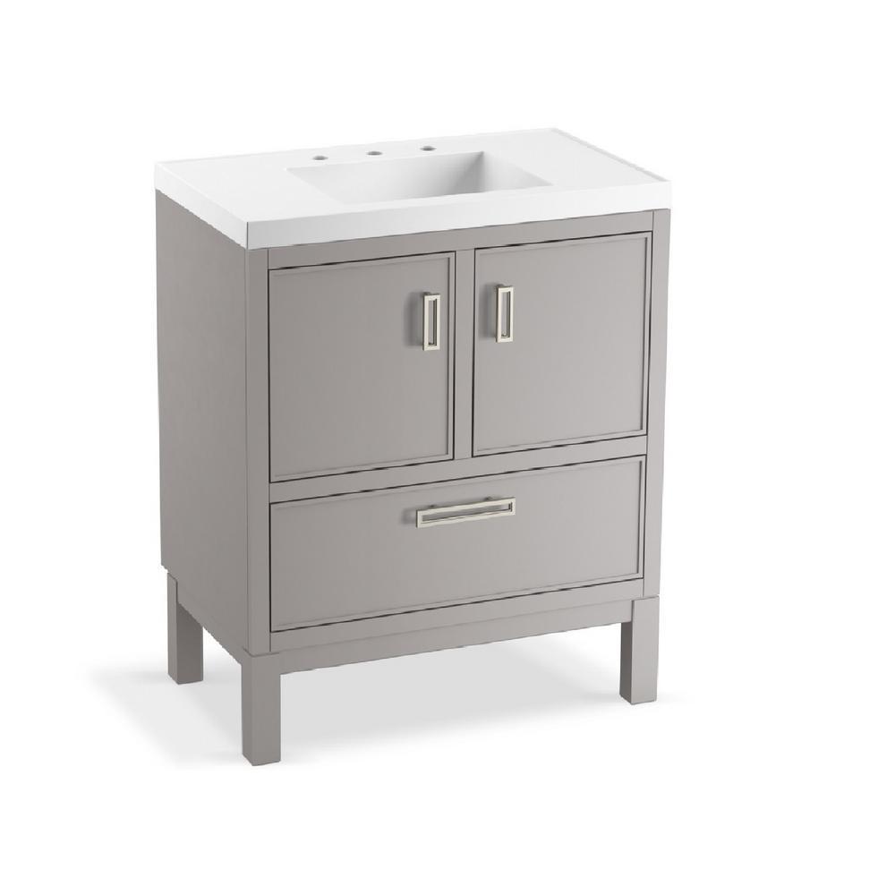 Kohler Rubicon 30 In W Bath Vanity In Mohair Grey With Vanity Top
