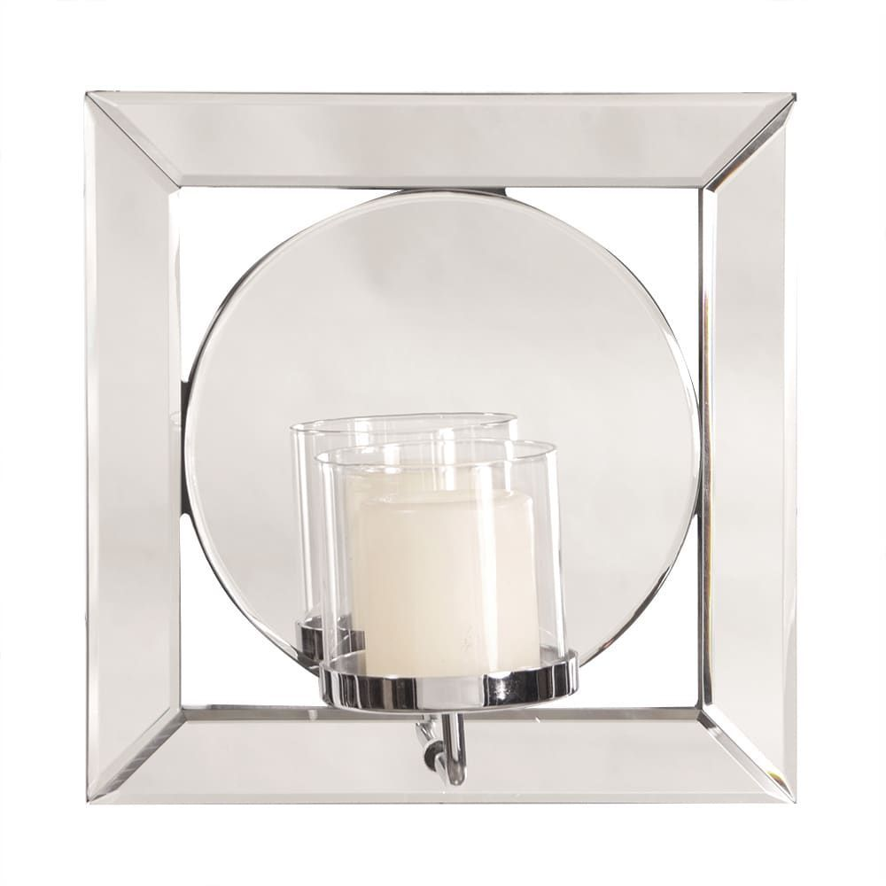 Allan Andrews Square Mirror W Candle Holder Silver Size Candle Holder Bathroom Overstock Com Online Shopping Bedding Furniture Electronics Jewelry