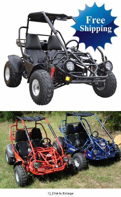 [TBQL_4184]  Trailmaster XRS 150 Buggy / Go-Kart.-Now With 5-Point Harness - <b><font  color=