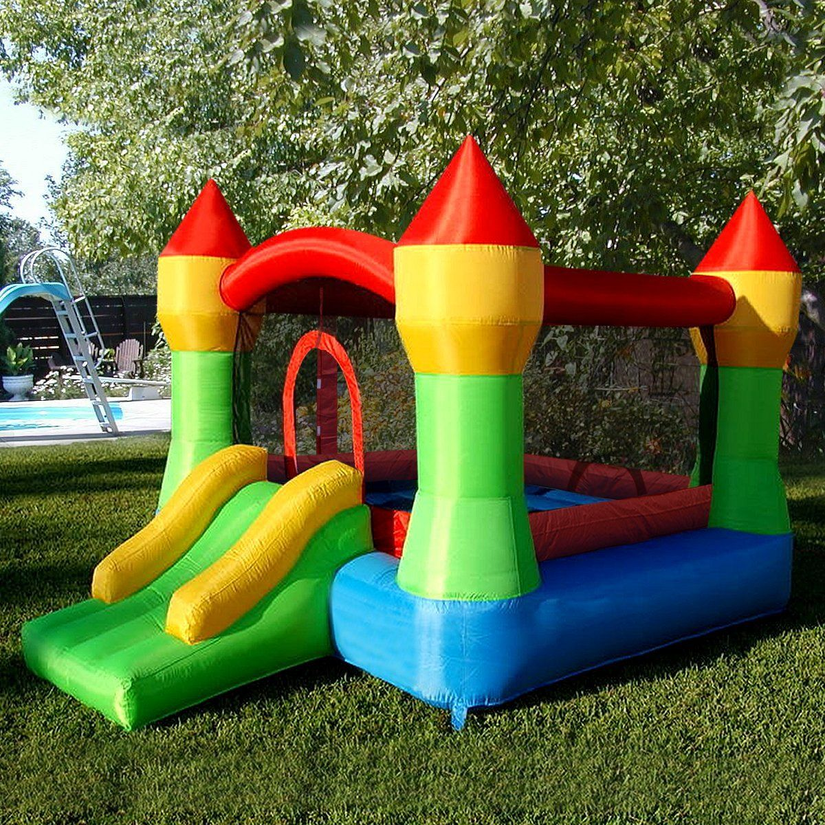 Inflatable Mighty Bounce House Castle for $180 http://sylsdeals.com/inflatable-mighty-bounce-house-castle-for-180/