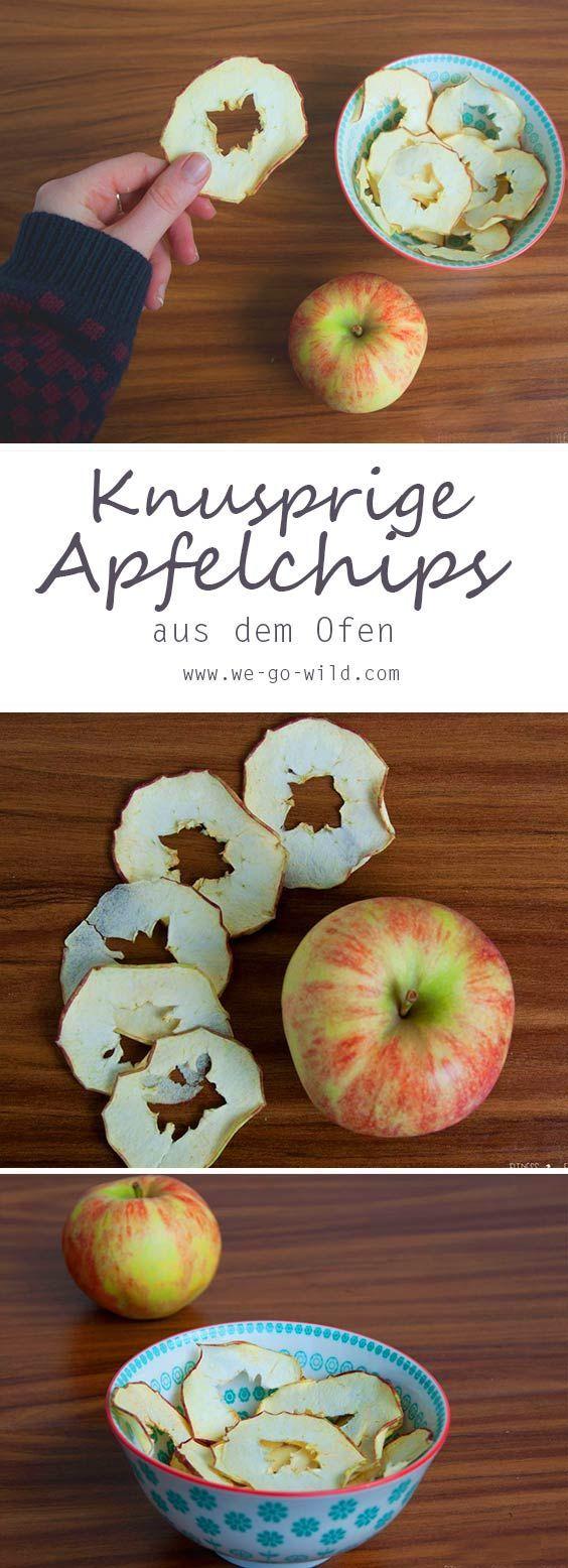 Apfelchips selber machen: Knusprige Apfelringe aus dem Ofen #pommesselbermachenofen