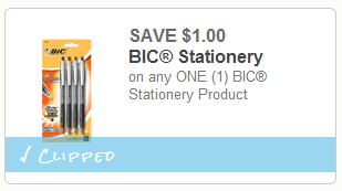 photo about Bic Printable Coupons identify $1 off Any BIC Stationary Product or service Printable Coupon (Totally free Pens