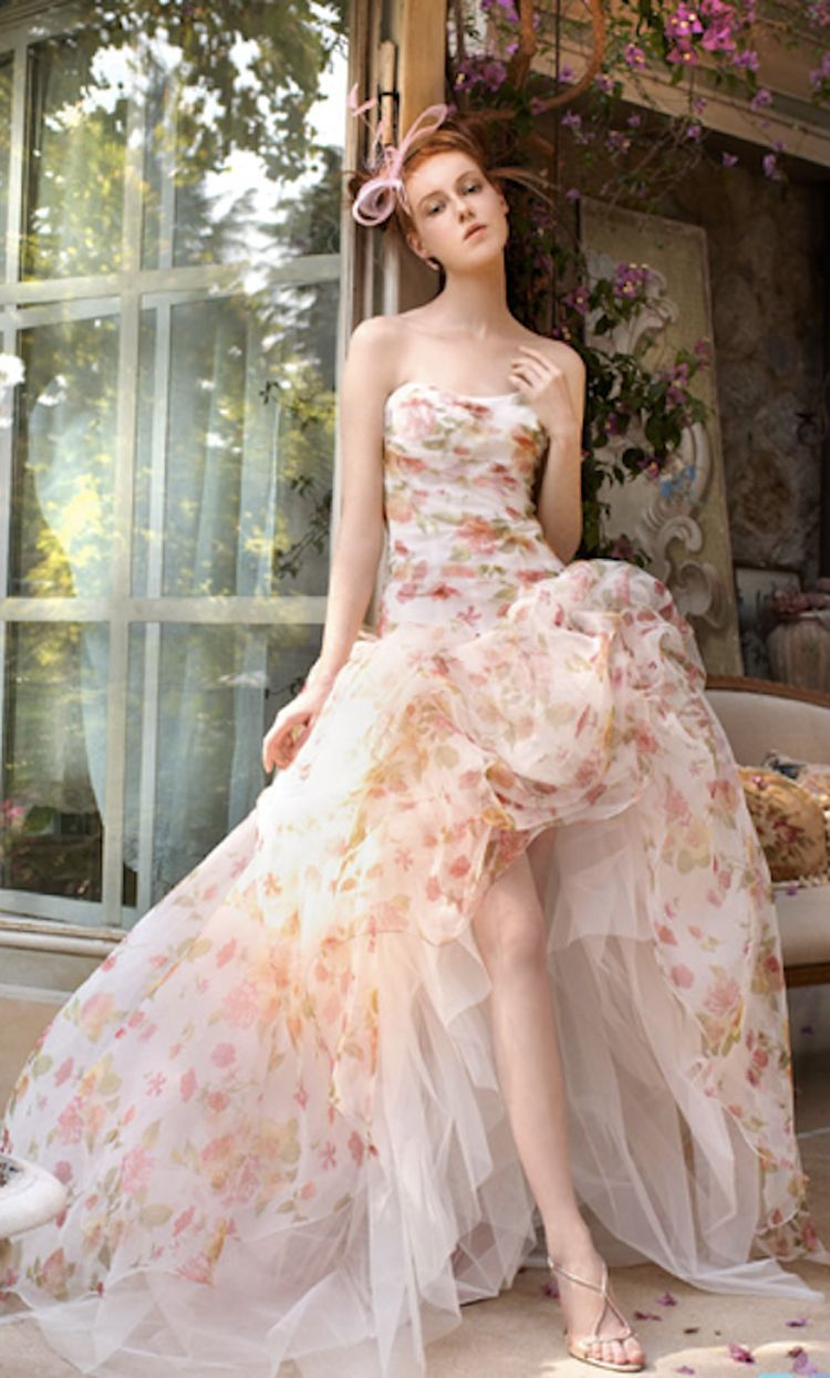 Floral Print Wedding Gowns by Atelier Aimee | Wedding Ideas ...