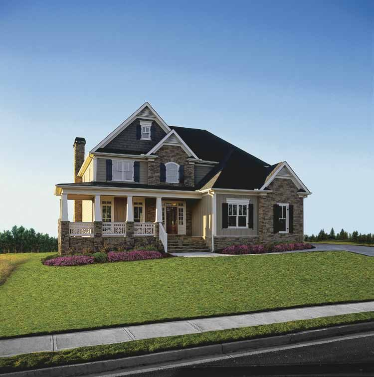 craftsman style house plan 4 beds 25 baths 2443 sqft plan 927 1 - 2 Story Country House