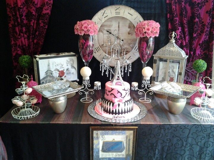 Paris Themed Party Decorating Ideas Part - 44: Paris Theme Birthday Party Decorations | Paris Themed Birthday Tea Party!