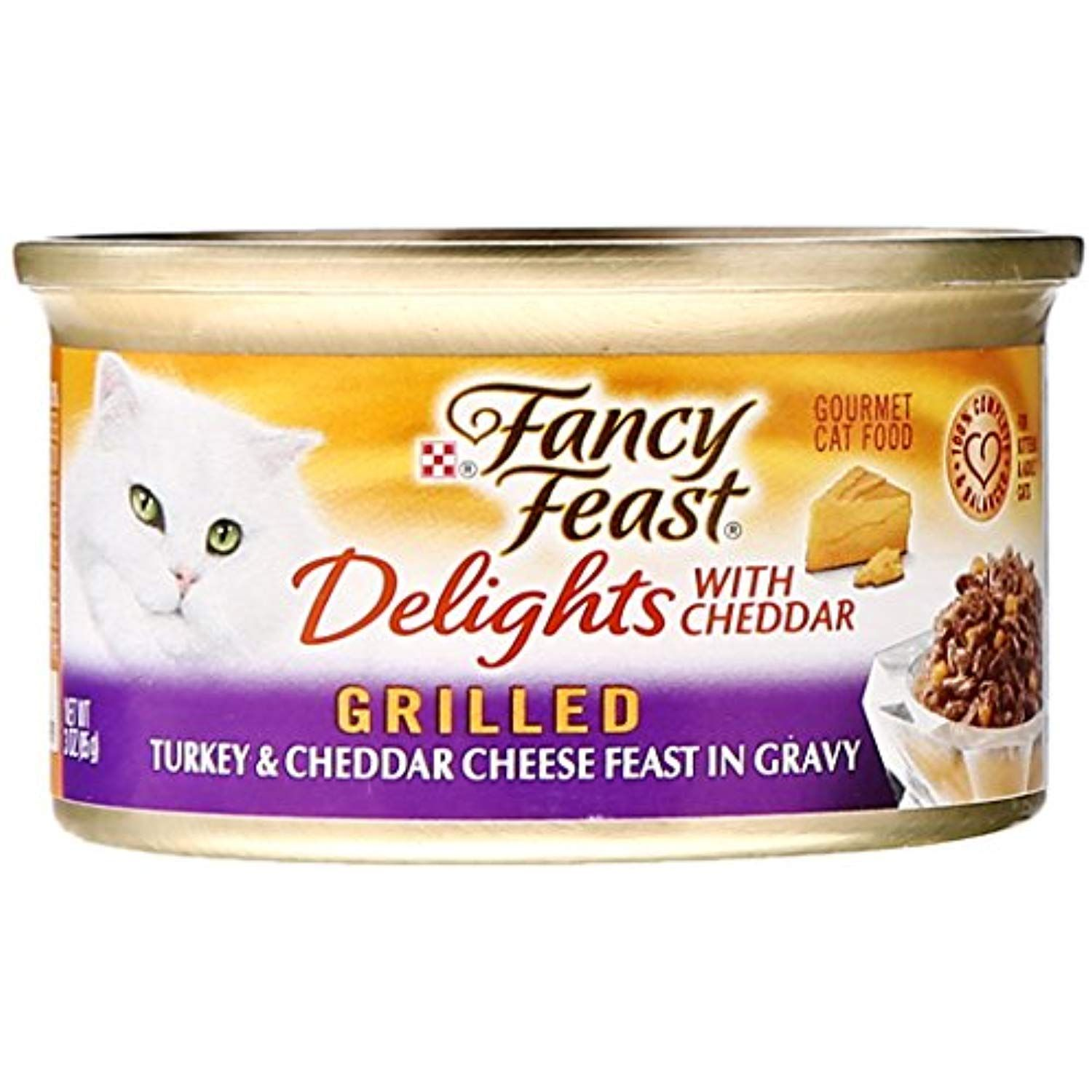 Fancy Feast Canned Delights Cat Food Turkey And Cheddar 3 Oz Click On The Image For Additional Details This Is An Affiliate Canned Cat Food Canned Food