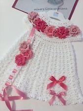 Vestitino Neonata Alluncinetto Con Fascia Per Capelli In Coordinato