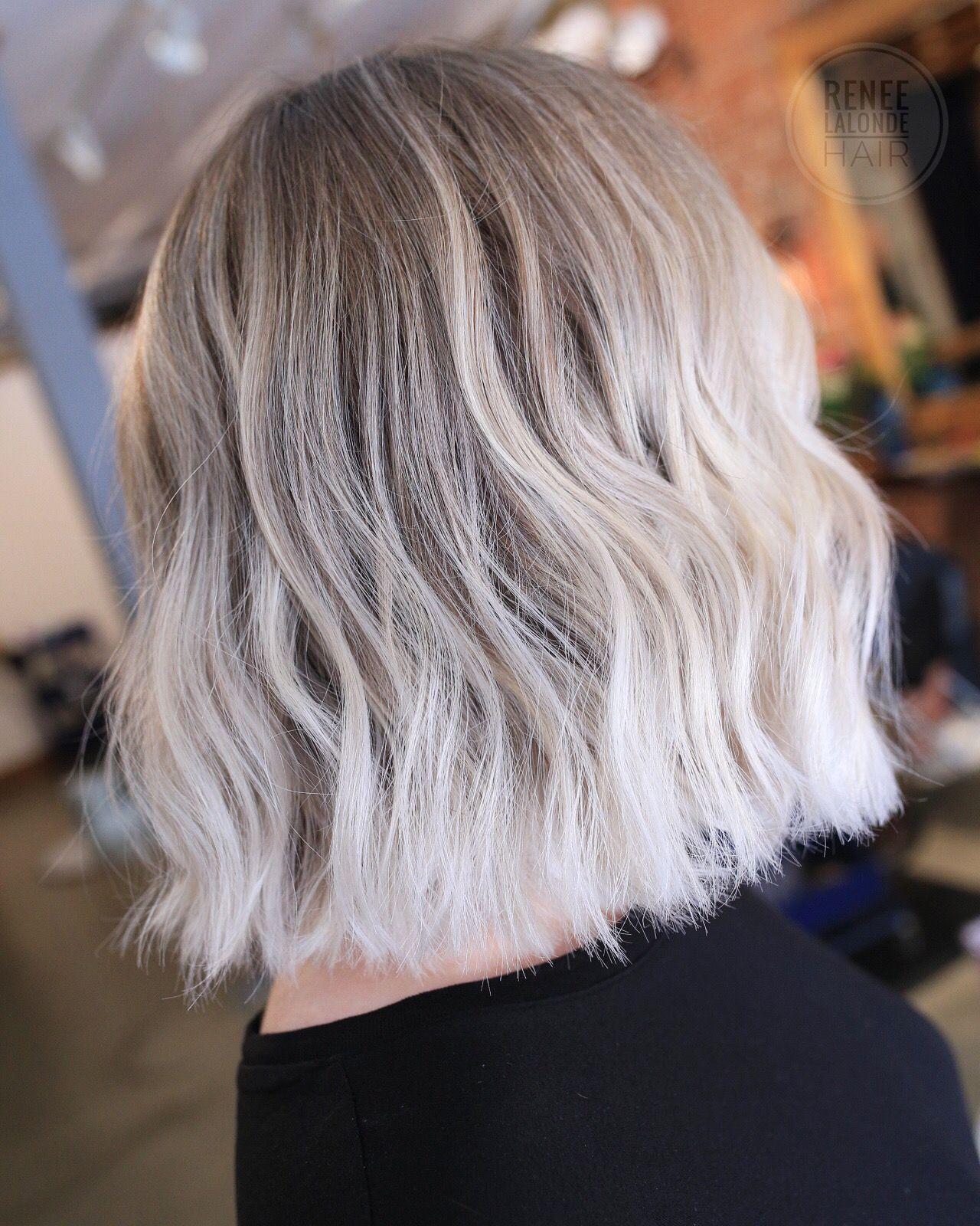 White Blonde Balayage Short Hair