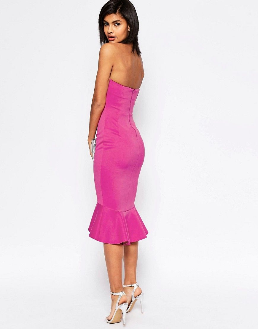 Image 4 of ASOS Pephem Bandeau Midi Dress | Prom Dresses | Pinterest