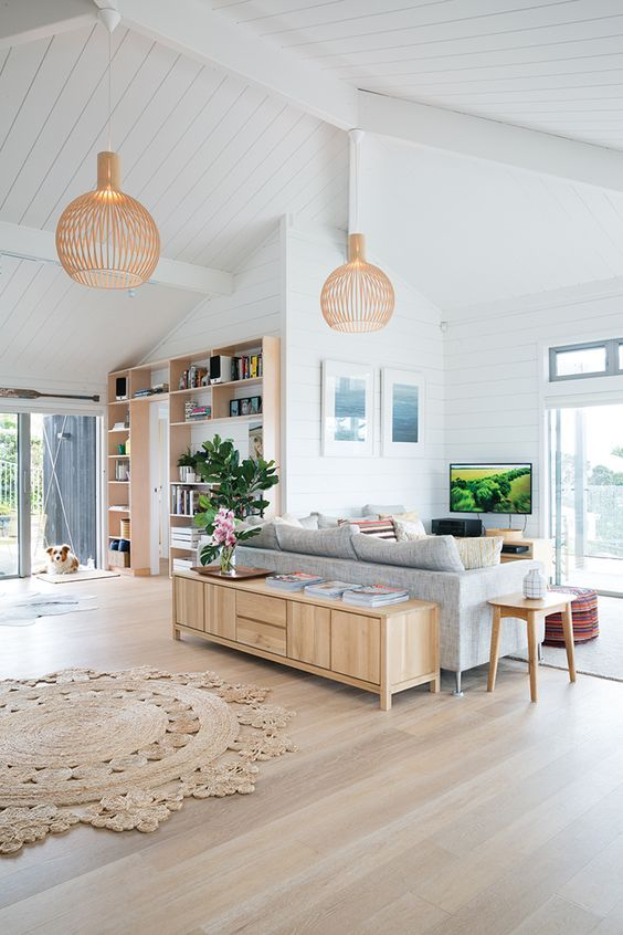 Light Modern Wood Floor, The light wood flooring and furniture goes beautifully