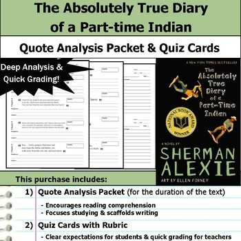 Absolutely True Diary Of A Part Time Indian Quotes Entrancing The Absolutely True Diary Of A Parttime Indian  Quote Analysis . Inspiration
