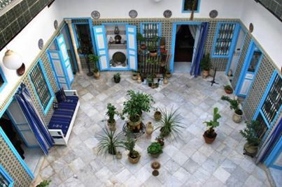 Tunisia House Maison Cour Interieure Tunisienne