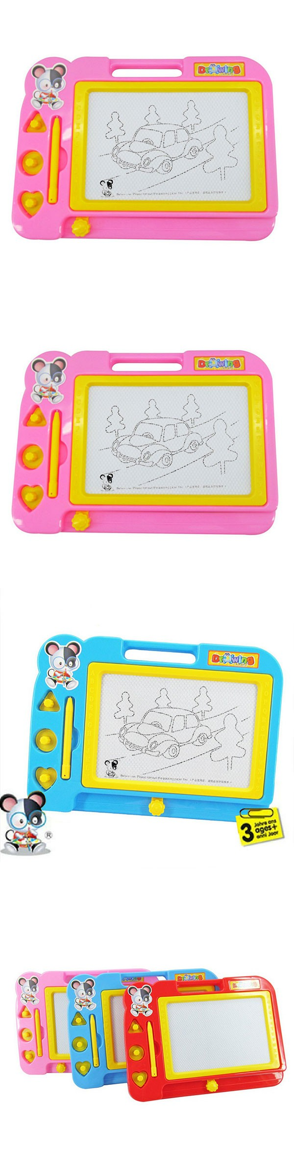 Magnetic craft board - Plastic Magnetic Drawing Board Sketch Sketcher Writing Painting Craft For Kids Children Multi Color