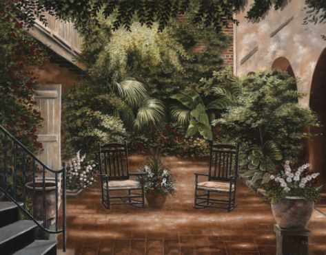 Courtyard in New Orleans I Print by Betsy Brown at Art.com